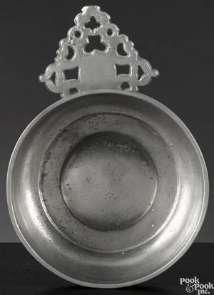 Newport Rhode Island pewter porringer ca 1795