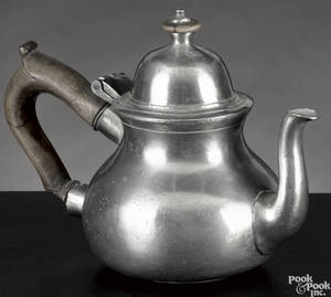 English pewter teapot late 18th c