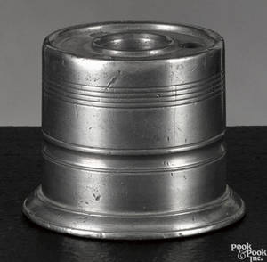 New York pewter inkwell ca 1835