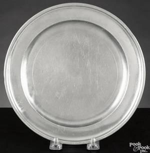 Boston Massachusetts pewter plate ca 1790
