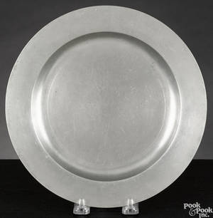 Pennsylvania or Rhode Island pewter plate ca 1720