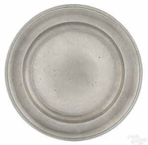 New York pewter plate ca 1785