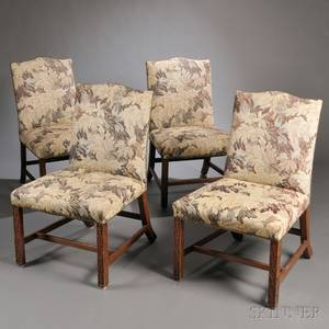Matched Set of Four Georgianstyle Upholstered Dining Chairs