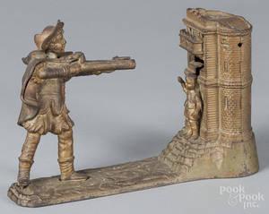 Cast iron William Tell mechanical bank
