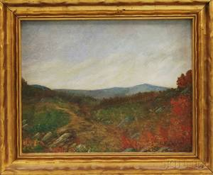 Arthur Loring Brackett American d 1934 Landscape Possibly Mt Monadnock