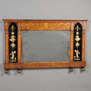 Neoclassicalstyle Overmantel Mirror