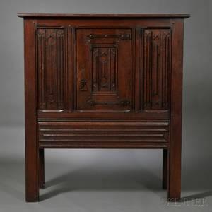 Irving  CassonAH Davenport Co Gothic Revival Oak Cabinet