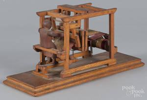 Salesmans sample oak loom