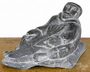 Inuit carved soapstone 20th c