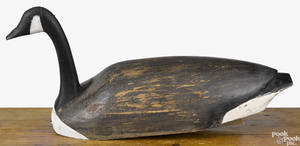Large carved and painted Canada goose decoy 20th c