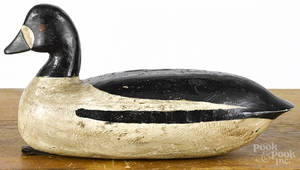 Attributed to Doug Jester carved and painted goldeneye duck decoy mid 20th c
