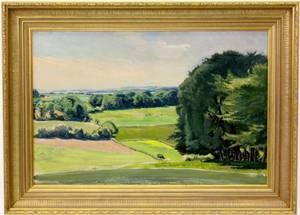 Knud Dybvad Danish Landscape Oil Painting