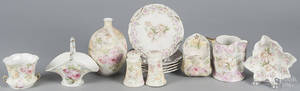 Thirteen pieces of Royal Bayreuth tapestry porcelain