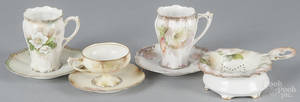 Four pieces of R S Prussia porcelain