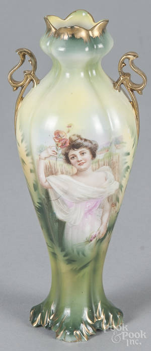 R S Prussia porcelain swan creamer