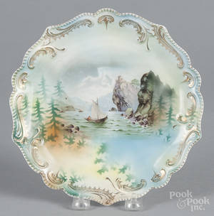 R S Prussia porcelain sailboat plate