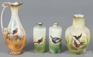 Four R S Prussia porcelain vases