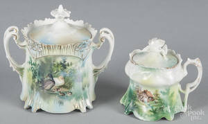 R S Prussia porcelain duck sugar bowl