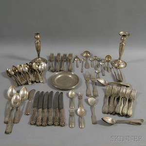 Collection of Sterling and Coin Silver Flatware and Tableware