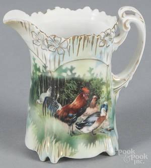 R S Prussia porcelain chicken creamer