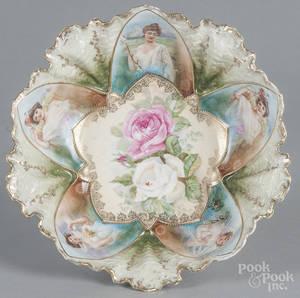 R S Prussia porcelain portrait bowl