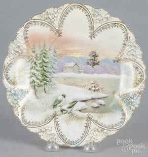 R S Prussia porcelain snow bird