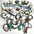 Collection of Southwestern Mostly Sterling Silver and Turquoise Jewelry