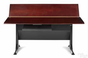 Herman Miller cherry and steel drafting table