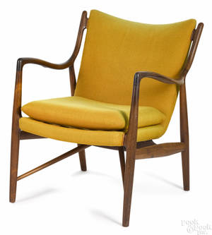 Finn Juhl Danish Modern rosewood lounge chair