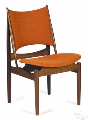 Finn Juhl Danish Modern rosewood Egyptian side chair
