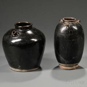 Two Blackglazed Jars