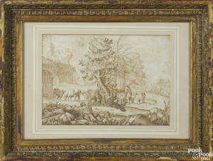 Italian Old Masters ink drawing 17th c