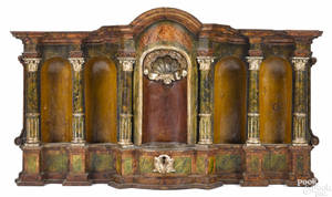Italian carved and painted reliquary late 18thearly 19th c
