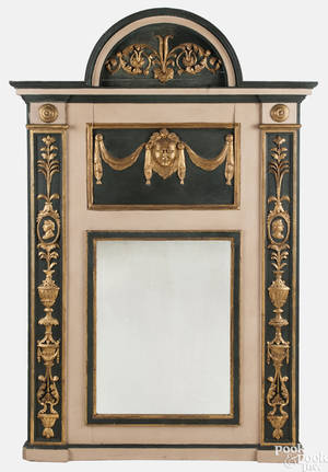 Italian carved and painted mirror 19th c