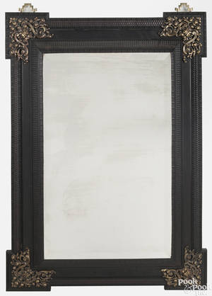 Continental ebonized mirror late 18th c