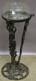 Blackpainted The Booth Co Cast Iron Mermaid Figural Floor Standing Base
