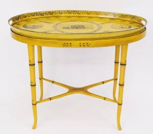 French Regency Style Tole Peinte Tray Table