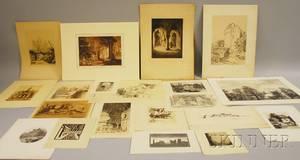 Approximately Nineteen Unframed Works on Paper After Joseph Mallard William Turner British 17751851 Penbury Mill Kent