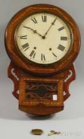 Inlaid Mahogany Wall Clock