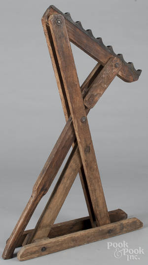 Steel and oak wagon jack