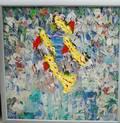 Italo Botti American 19232003 Abstract Flower Garden