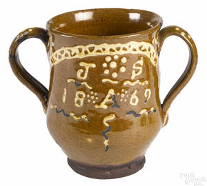 English twohandled lodge loving cup dated