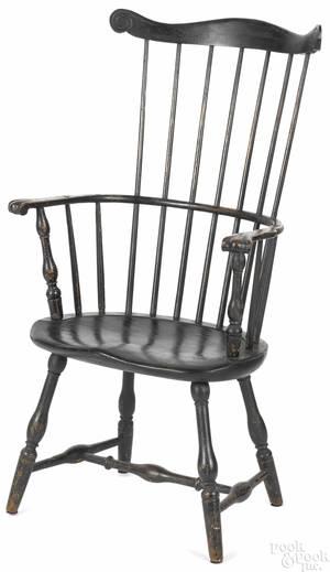 Fanback Windsor armchair ca 1790