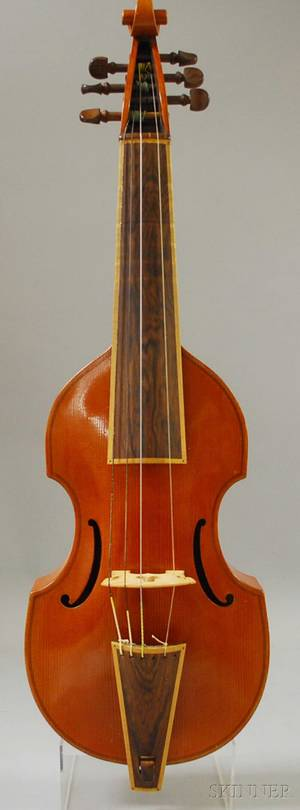 Modern Viola da Gamba probably Mittenwald c 1960