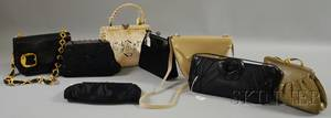 Group of Eight Small Evening Bags and Purses