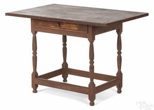 New England painted pine tavern table late 18th c