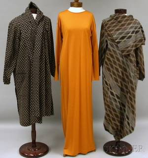 Two Issey Miyake Dresses and a Robe