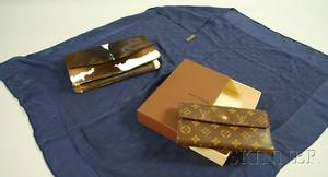 Louis Vuitton Wallet and Silk Scarf and a Mexican Pony Hair Clutch