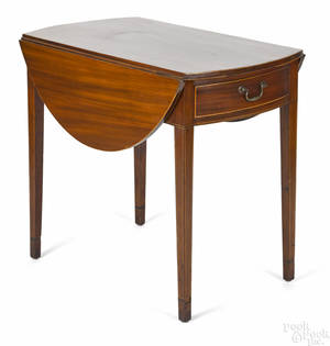 New Brunswick New Jersey Federal mahogany Pembroke table ca 1810
