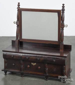Sheraton mahogany shaving mirror